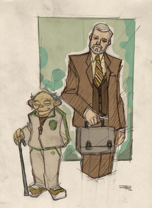 Yoda and Professor Obi Wan