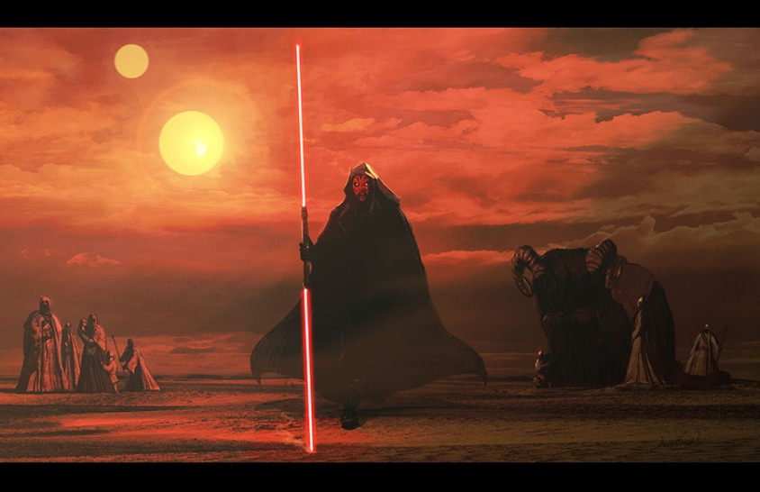 darth_maul_on_tatooine_by_livioramondelli-d7m8w6o