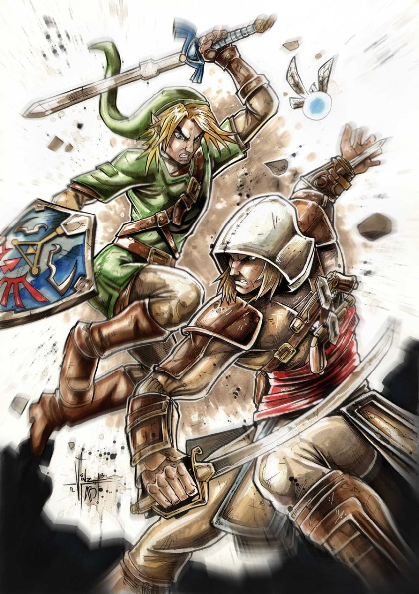 link_vs_assassin_s_creed_by_vinz_el_tabanas-d6t95ym