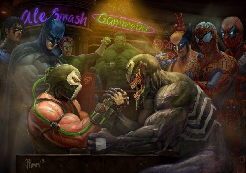 bane_vs_venom__wrestling_addiction_2_by_ptimm-d66rgyn