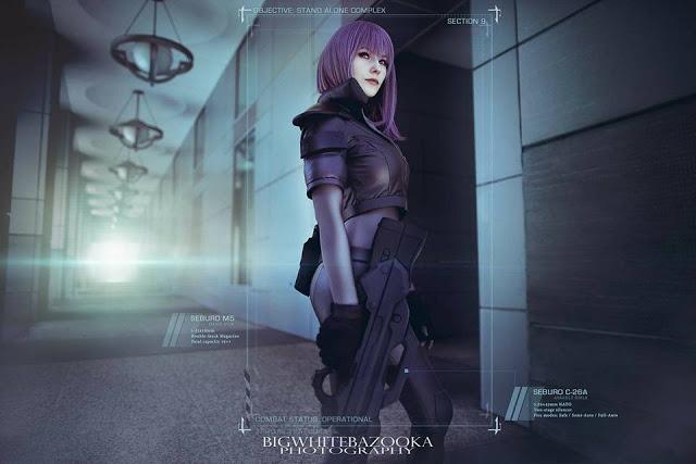 Motoko Kusanagi cosplay ghost