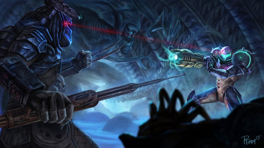 samus_vs_predator_1_by_ptimm-d9cdpal